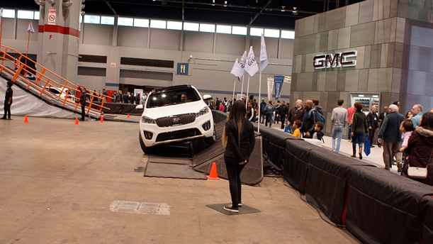 Chicago Auto Show Obstable Course