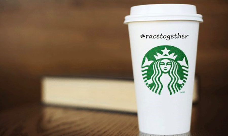 starbucks cup race together campaign